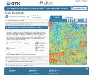 Hakku Spatial Data Products service